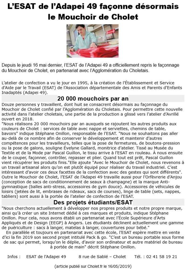 mouchoirs ADAPEI 2